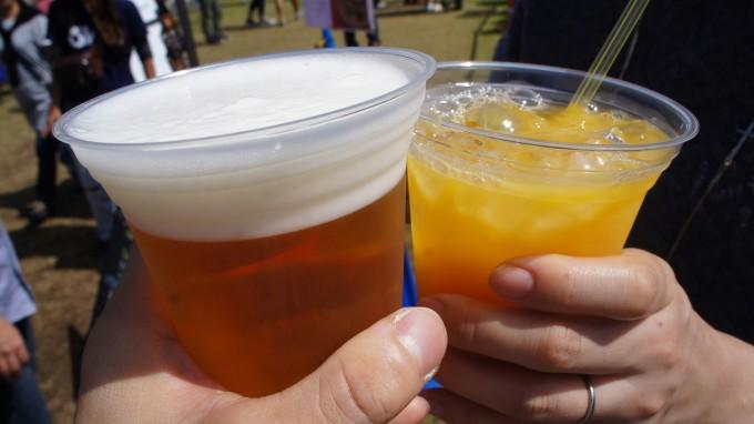 ビール&オレンジジュース