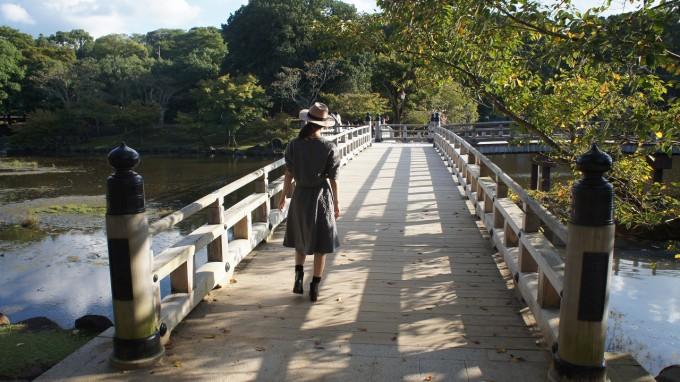 浮見堂の橋