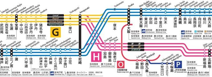 大阪・北新地・三ノ宮・宝塚_停車駅