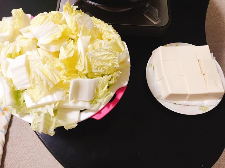 白菜と豆腐の写真