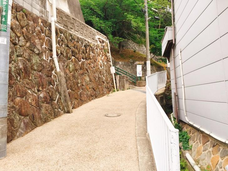 五月山公園への階段