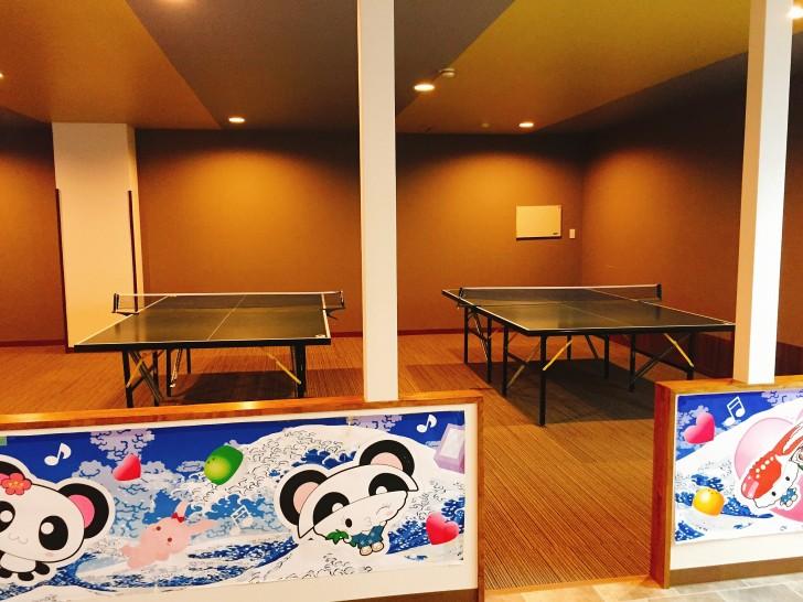 彩朝楽の卓球コーナー