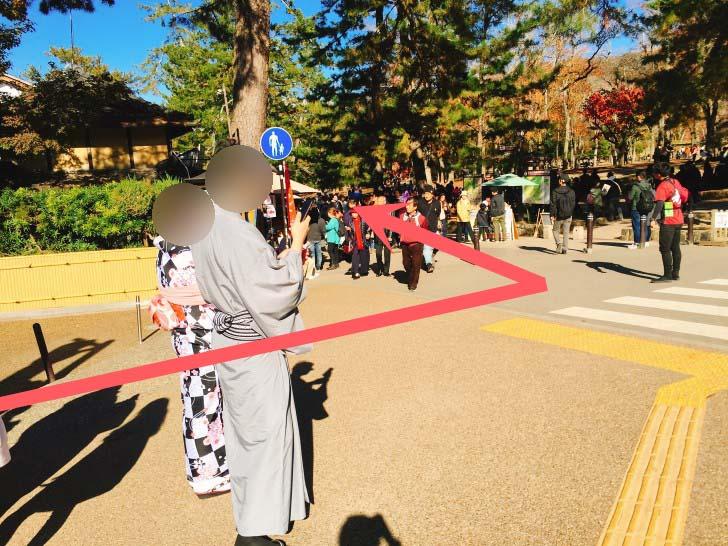 東大寺へと続く道