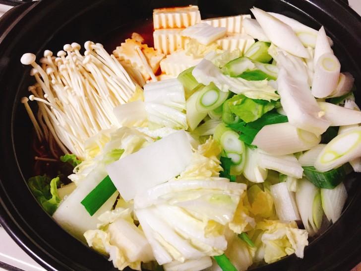 野菜を投入