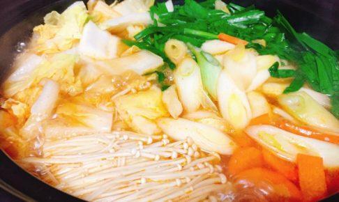 キムチ鍋 完成