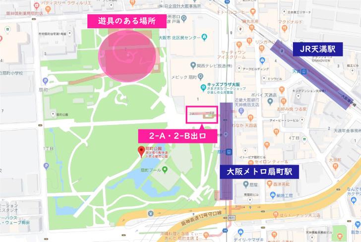 扇町公園 Map
