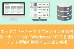 Wordpress サブドメイン