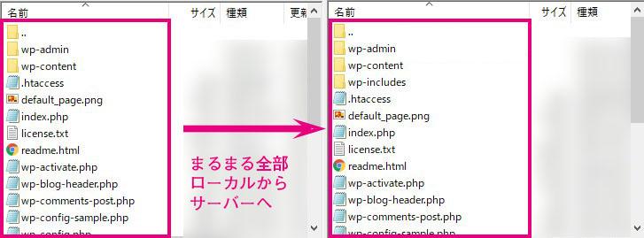 FTP ファイルアップ