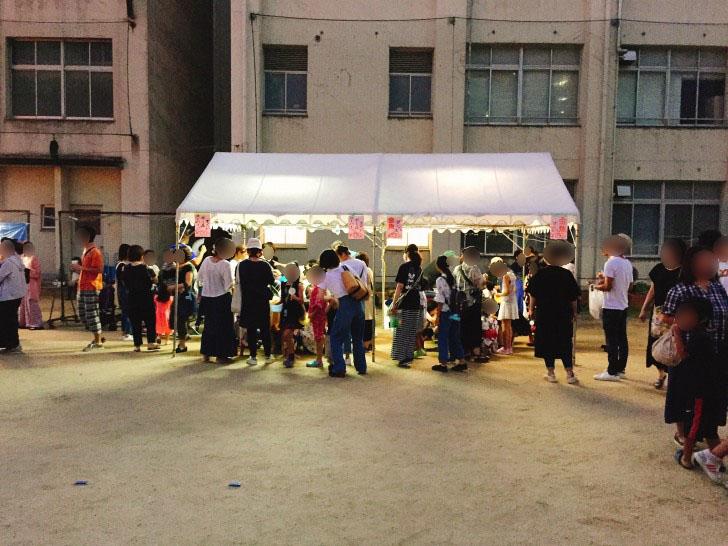 新東三国小学校の夏祭り