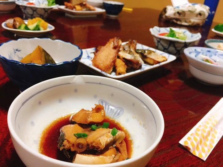 魚料理の朝ご飯