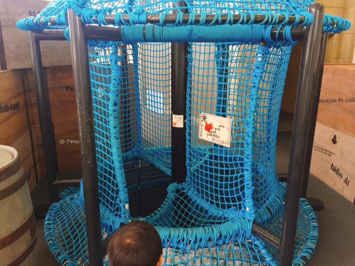 ロープの階段