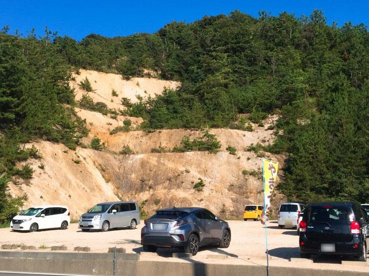 水晶浜 無料の駐車場